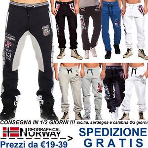 Geographical-Norway-Pantaloni-Sportivi-Moda-Uomo-Tuta-Casual-Sport-Jogging-Corsa