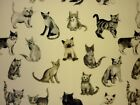 Prestigious Textiles Cool Cats 100% Cotton Curtain Furnishing Fabric - Charcoal