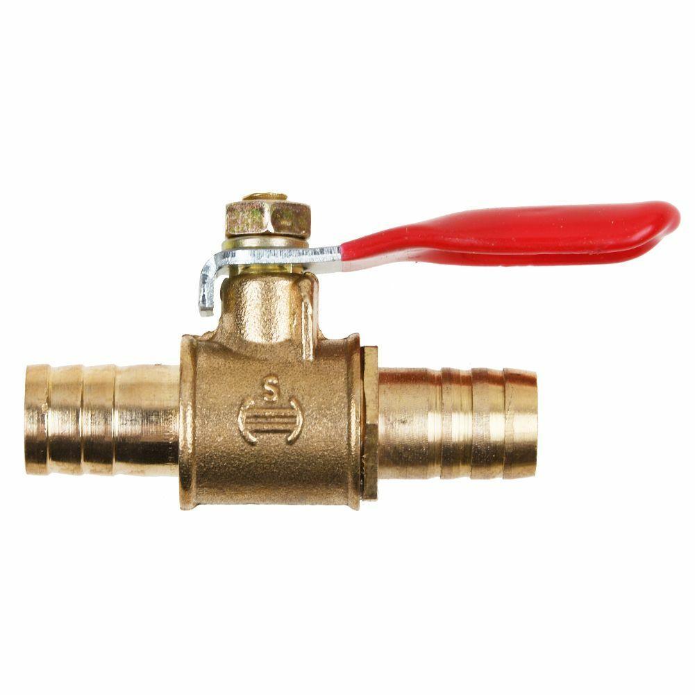 """Luft Gas Kraftstoff Linie#AbspHV 8mm 5//16 /""""Schlauch Barb Inline Messing Wasser"""
