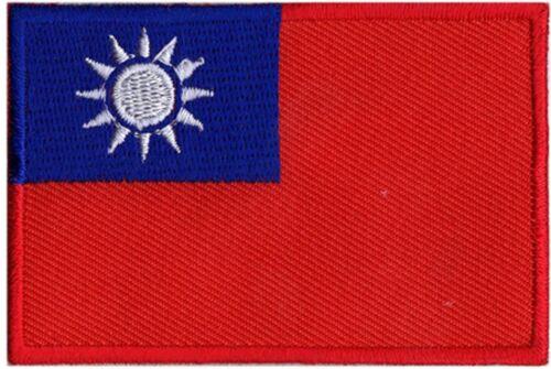 Patch écusson patche drapeau Taiwan Taïwan 70 x 45 mm Pays Monde à coudre