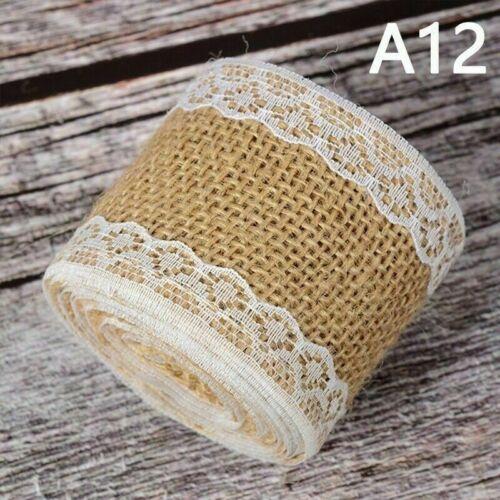 2m yute punta banda yute papel boda decoración fiesta DIY regalo embalaje