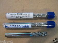 Best Carbide 4 Flute Univ Application Long Length 516 End Mill New Lot Of 3