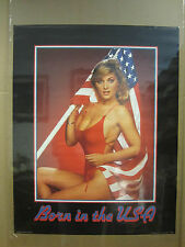 Vintage Born in the USA Car Garage poster man cave hot girl  1802