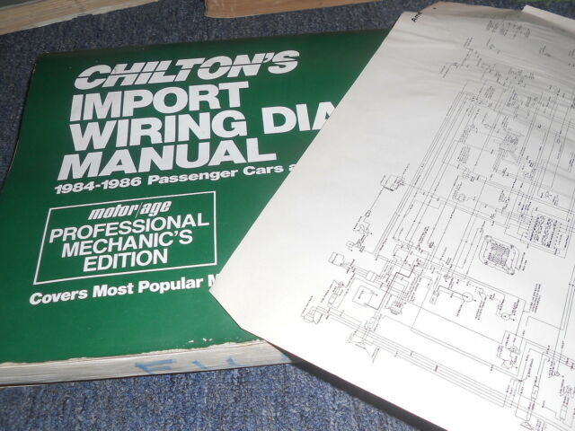 1985 Toyota Cressida Oversized Wiring Diagrams Schematics Manual Sheets Set