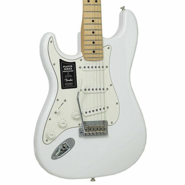 fender electric guitar player stratocaster polar white for sale online ebay. Black Bedroom Furniture Sets. Home Design Ideas