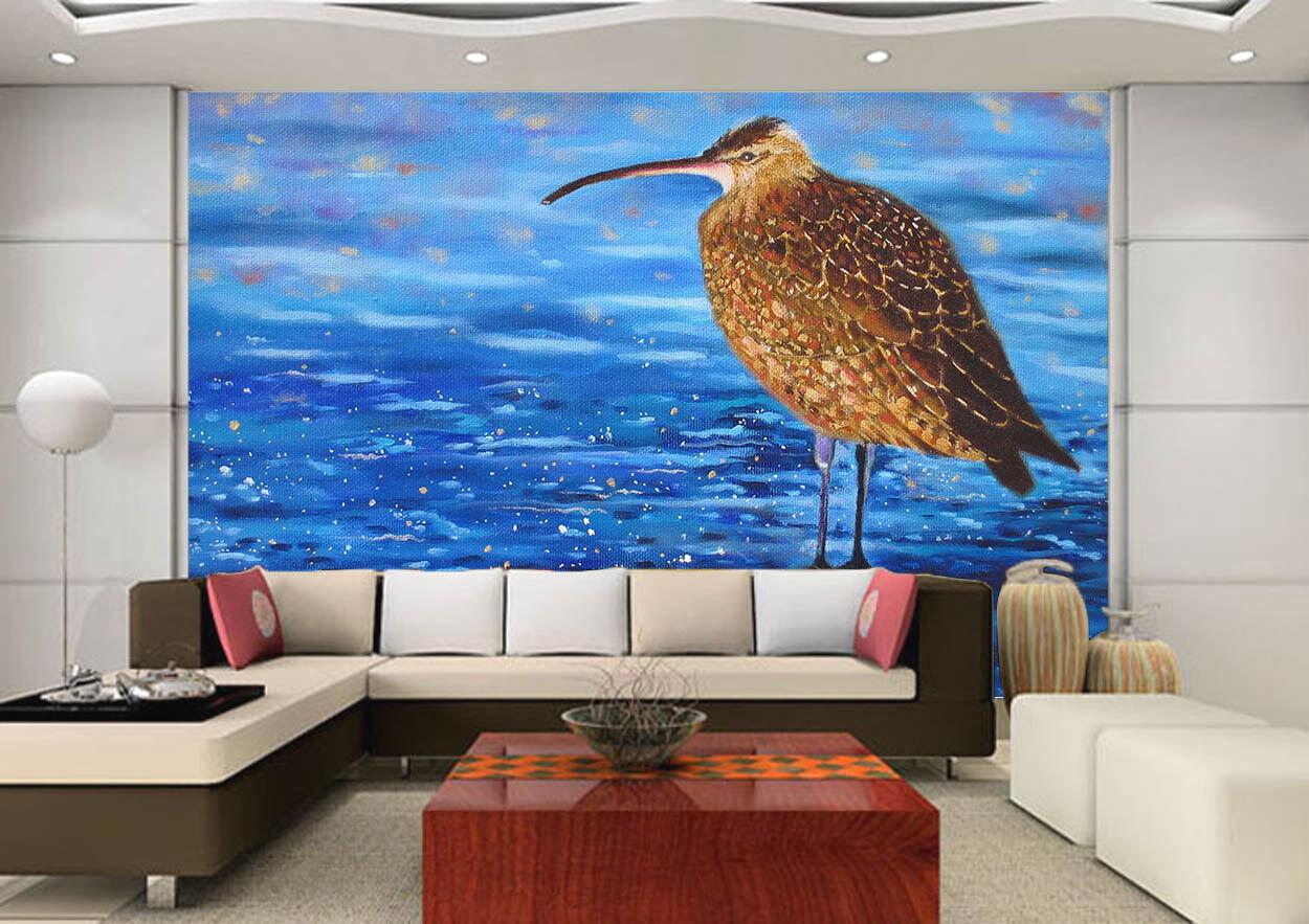 3D Long Mouth Bird 85 Wall Paper Murals Wall Print Wall Wallpaper Mural AU Kyra