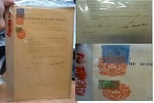 Malaya Straits KGV $25, $5 on 1937 revenue document, unusal early usage (3bei)