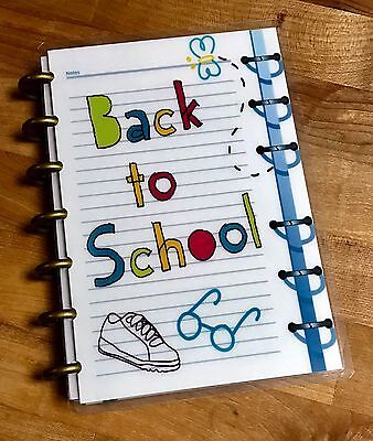 In Back To School Front/back Cover Set For Use With The Mini Happy Planner Exquisite Workmanship