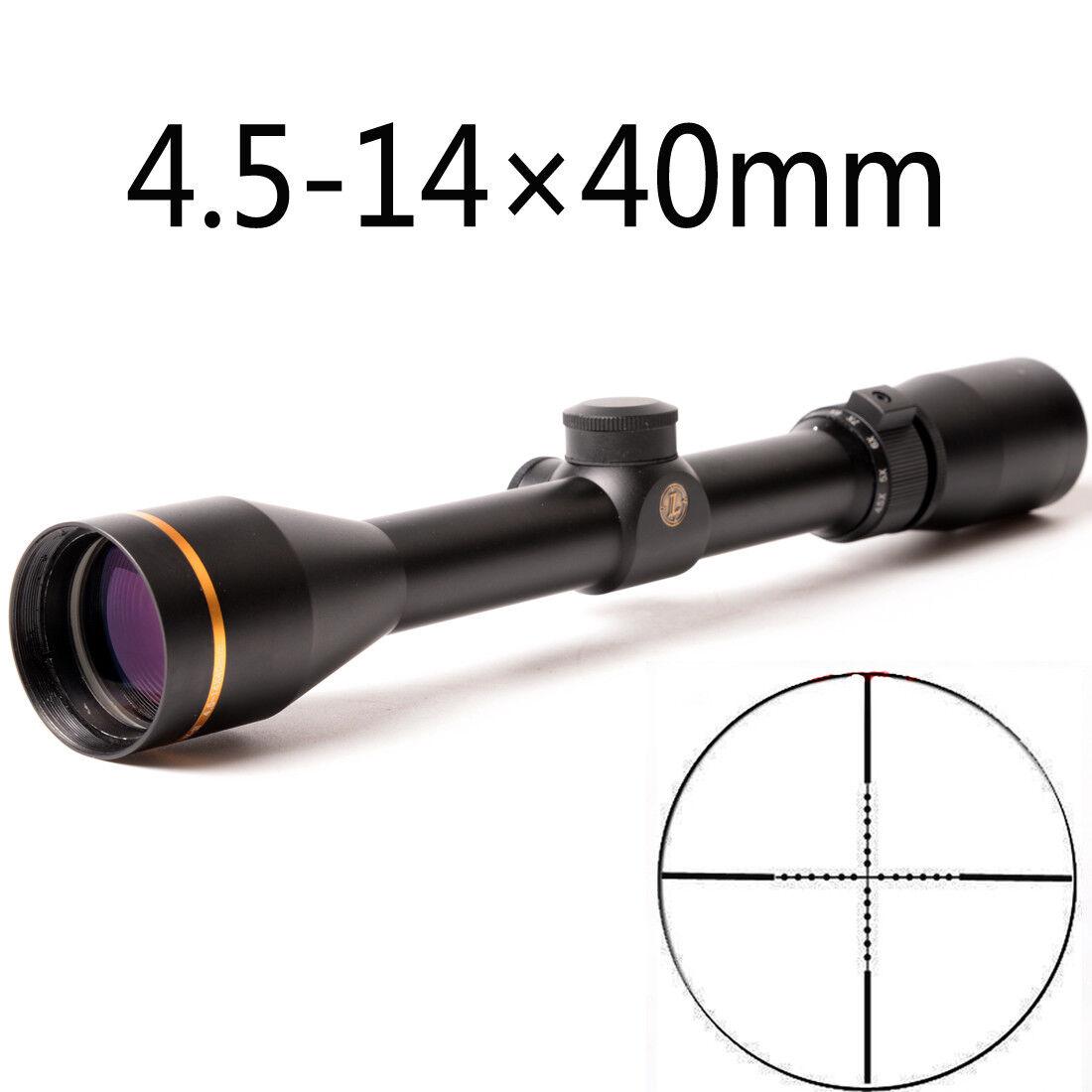 Mira Para Rifle táctico 4.5-14X40mm Mil Dot Retícula dúplex HD Vidrio Vista Alcance