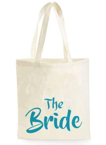 WEDDING CANVAS TOTE BAG BRIDAL SHOWER HEN PARTY BRIDE TO BE BRIDESMAID PRESENT