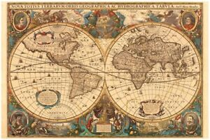RAVENSBURGER 17411 ANTIQUE WORLD MAP 5000 PIECES JIGSAW PUZZLE MAPPA ...