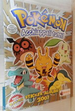 POKEMON Acchiappali tutti Sticker album 2001 Contiene 102 figurine TV Ragazzi