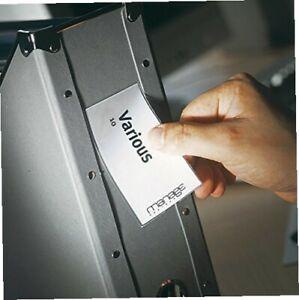 3L-Etikettenhalter-selbstklebend-inkl-bedruckbare-Etiketten-25-x-75-mm