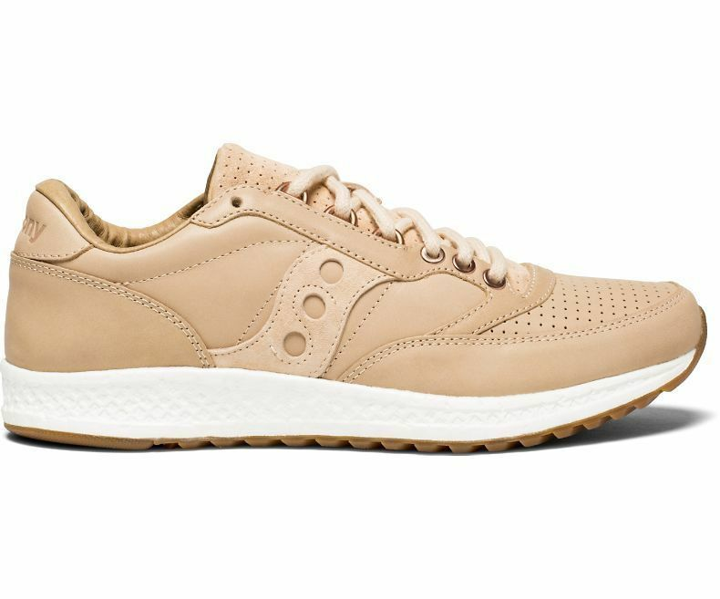 Saucony Originals Freedom Runner Tan Everun Leather Running Shoes S70394-3