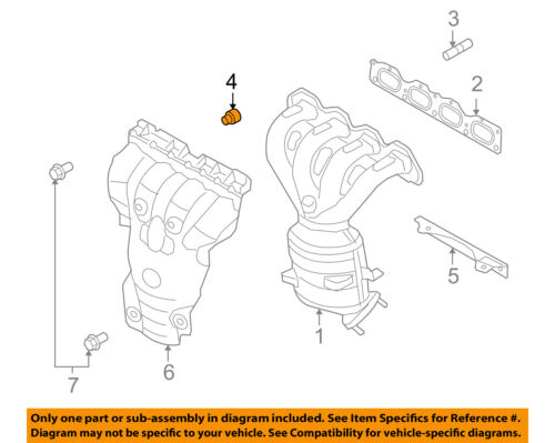 Saturn GM OEM 2008 Astra 1.8L-L4 Exhaust Manifold-Manifold Mount Nut 55557769