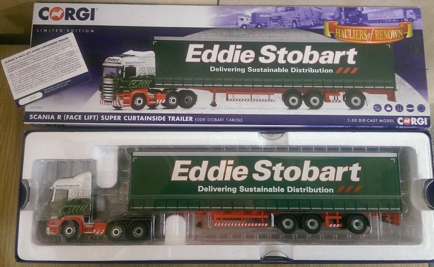 CORGI CC13747 SCANIA R Super Curtainside Eddie Stobart LTD ED Nº 2500 de 2500