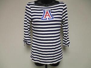 Nuevo-Arizona-Wildcats-Mujer-M-Mediano-Disenador-Cuello-Barco-Camisa-Meesh-amp-Mia