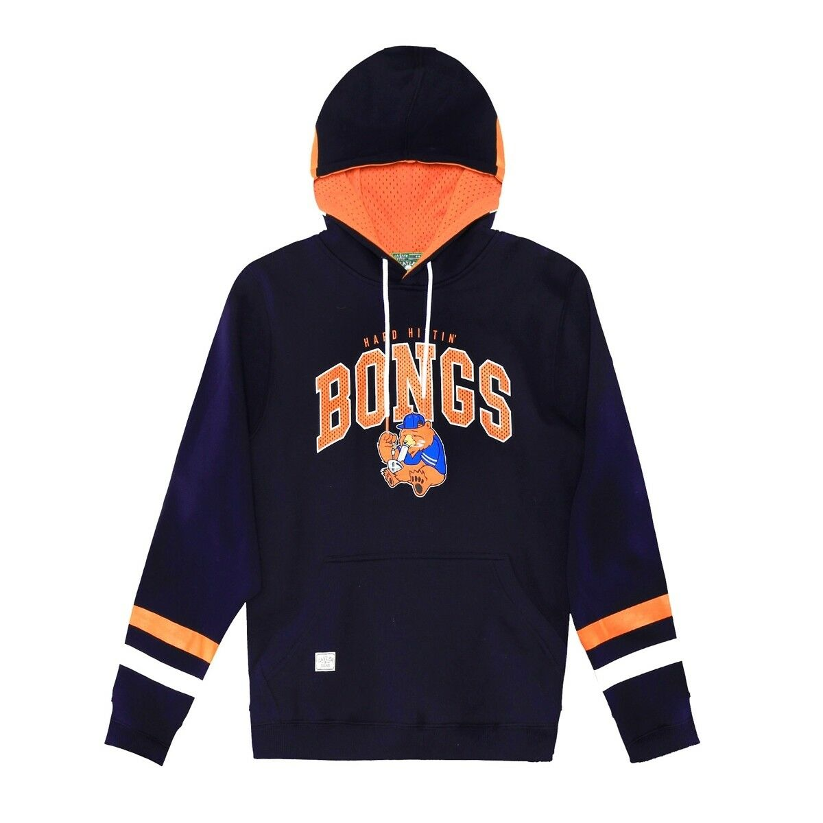 Cayler & Sons Stony Poo Hoodie   navy-Orange-Weiß