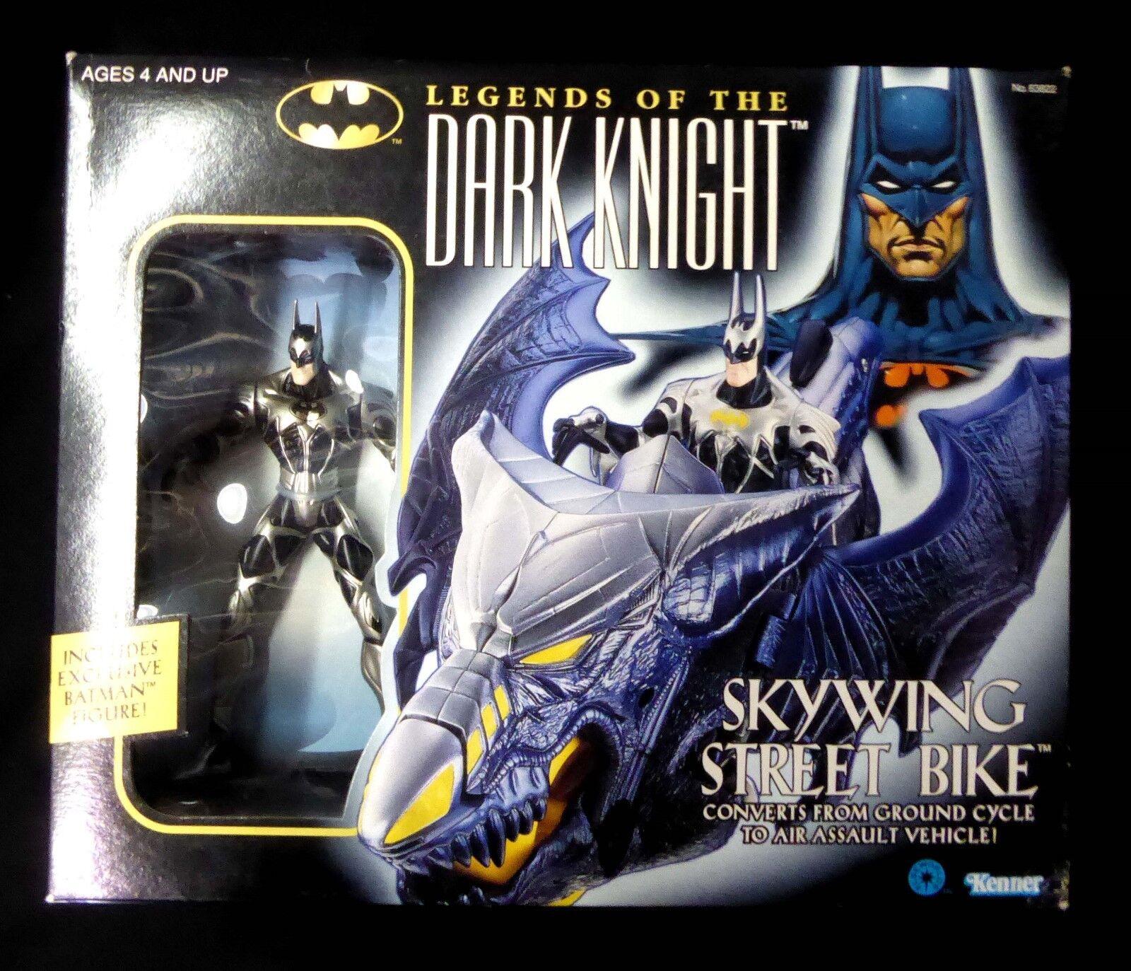 Dark knight skywing street bike & action - figur batman dc comics neue 1996