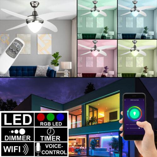 Alexa IOS Google Decken Ventilator RGB LED Wifi Kühler Lüfter Leuchte Smart Home