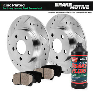 Rear Brakes Rotor Ceramic Pads 2003-2009 2010 Grand Marquis Crown Victoria