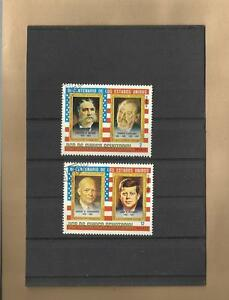 """A 2 Briefmarken """"rep Kennedy"""" Eine Lange Historische Stellung Haben Eisenhower De Guinea Ecuatorial Motiv U"""