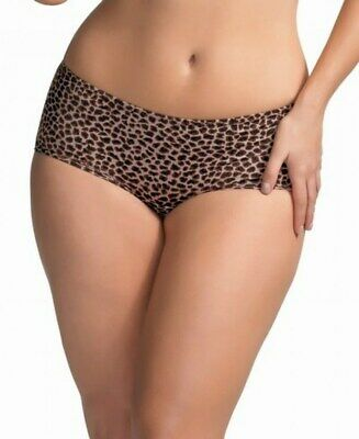 Elomi Asia Short Panty Style EL1228 Brown Animal Print
