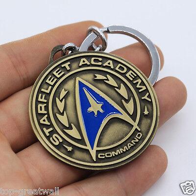New Star Trek Logo Bronze Gold Round Tag Metal Keyring Keychain