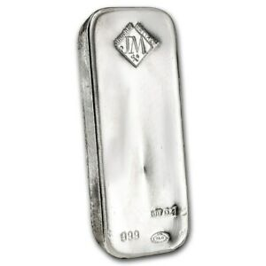 Details About Special Price 100 Oz Silver Bar Johnson Matthey Sku 87716