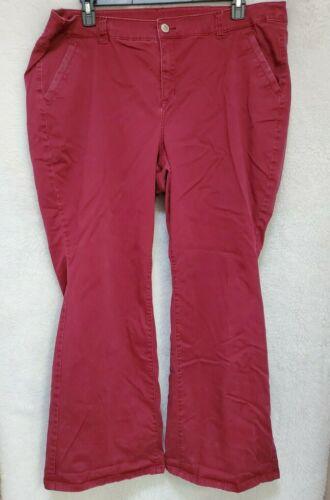 Lane Bryant Womens Burgundy Jeans Pants Size 22