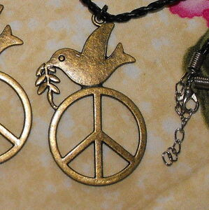 Peace dove necklace symbol for world peace love harmony and image is loading peace dove necklace symbol for world peace love aloadofball Image collections