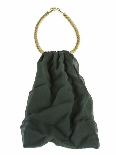 MAX MARA Women/'s Alice Emerald Green Chiffon Ascot Necklace $295 NWT