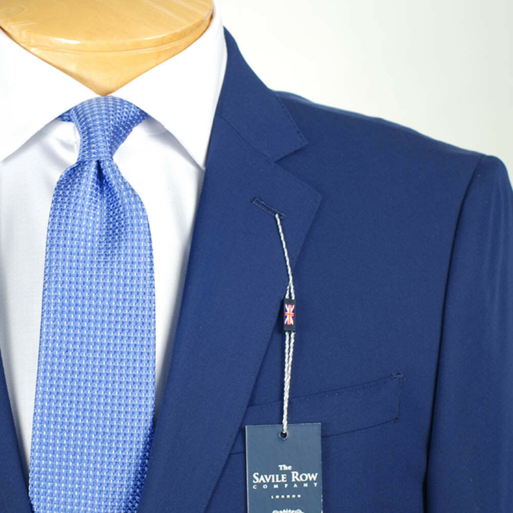 42S SAVILE ROW Solid Blau SUIT SEPARATE  42 Short  Herren Suits - SS37