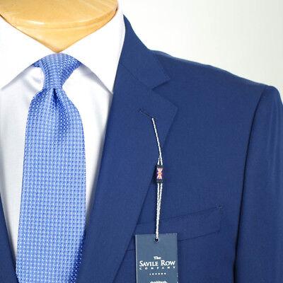 48L SAVILE ROW Solid Blue SUIT SEPARATE  48 Long Mens Suits SS37