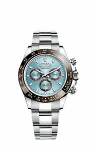 Rolex Cosmograph Daytona Ice Blue Dial Platinum Mens Watch