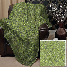 GRASS DESIGN SOFT PICNIC THROW BLANKET BED COVER OUTDOORS L&S PRINTS