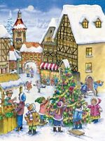 Richard Sellmer Verlag Traditional German Paper Advent Calendar Christmas Town