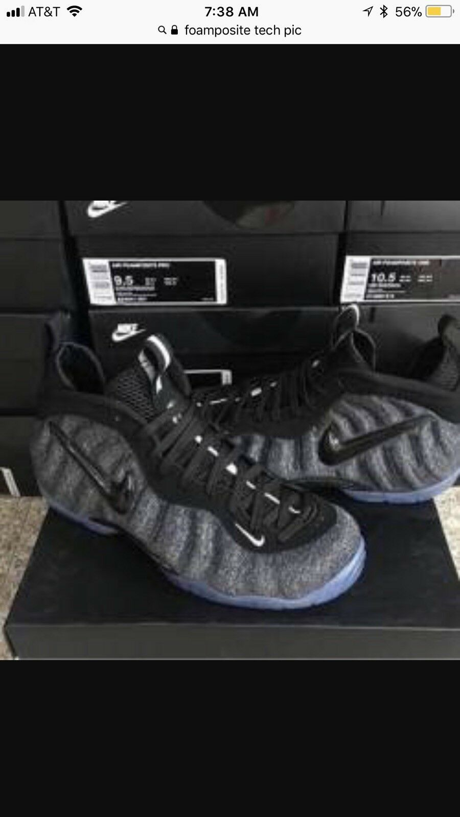 NIKE AIR FOAMPOSITE PRO TECH FLEECE WOOL GREY BLACK 624041-007 NEW SIZE 10 The most popular shoes for men and women