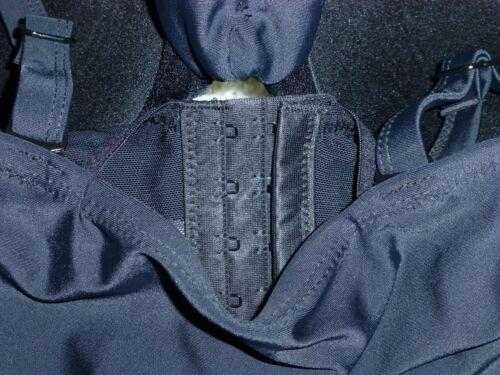 NEW SWIM BY CACIQUE 44D BLACK KEYHOLE LONGLINE BALCONETTE U//W BRA BIKINI TOP