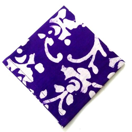 "100/% Cotton 12/"" BATIK PRINT Men Women Unisex Pocket Square Handkerchief Hanky"