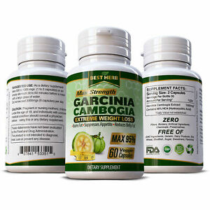 Details About 60 X Capsules Garcinia Cambogia Max Weight Loss Fat Burner Slimming Diet Pills