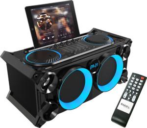 IBIZA-SPLBOX200-BK-SOUND-SYSTEM-Partystation-Bluetooth-USB-SD-LED-LAUTSPRECHER