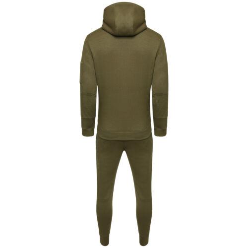 Men/'s Boys Tracksuit Corduroy Pocket Slim Fit Trousers Bottom Top  Zip Hoodies