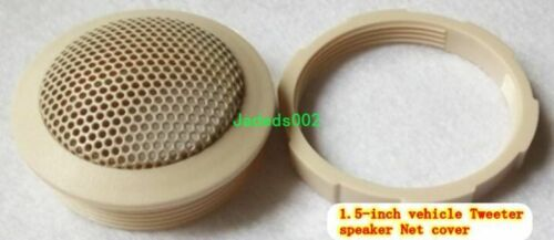 "2pcs 1.5/""inch Car Tweeter grille speaker protection net cover Beige Decorative"