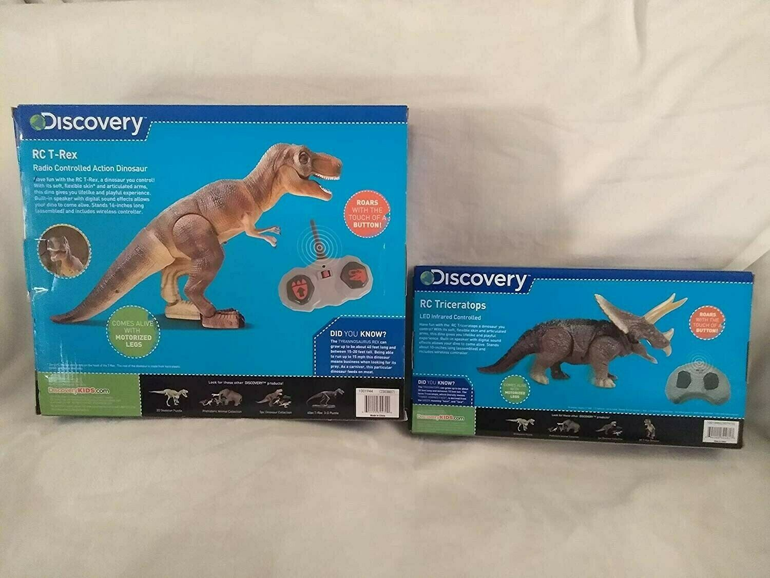 Discovery Remote Control RC T-Rex and and and RC Triceratops With Lifelike Skin Sounds bd79fa