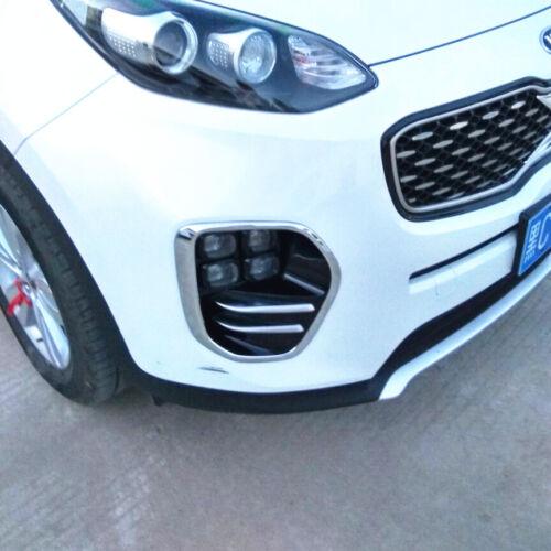 For Kia Sportage QL 2016-2018  ABS 2PCS Front Fog Lamp Cover Trim