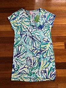 11f89bb1abb Image is loading Lilly-Pulitzer-NWT-Duval-Dress-Pool-Blue-Stay-