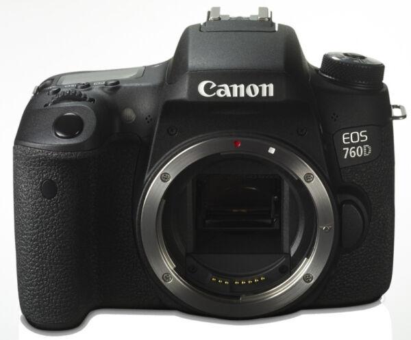 canon eos eos 760d 24 2mp digitalkamera schwarz nur. Black Bedroom Furniture Sets. Home Design Ideas