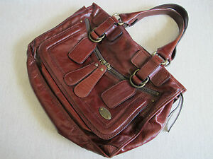 a2b34699cec54 Authentic CHLOE  BAY  Rich Brown Soft Leather Tote Large Shoulder ...