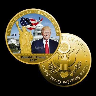 New 2017 Donald Trump 45th President US Commemorative Coin Make American Great
